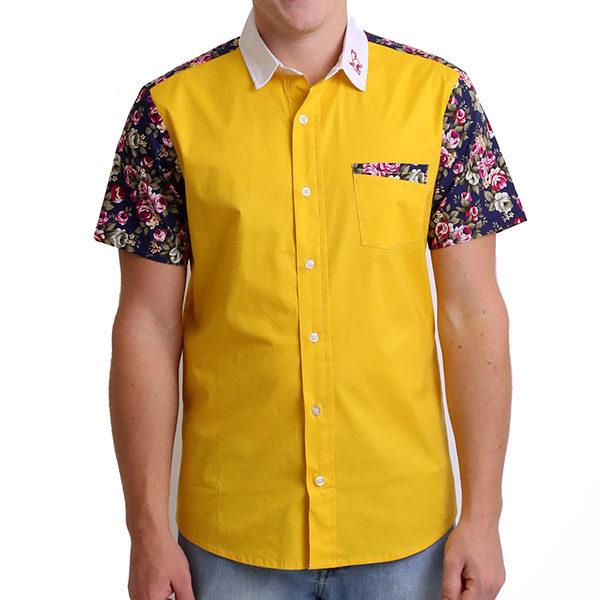 Short sleeved, Flower shirt, Party Shirt, Loud Shirt, Mutts Nuts, Shite Shirt, Loud Party Shirt, Pattern Shirt