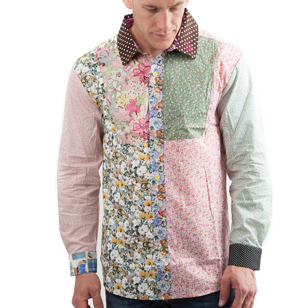 Flower shirt, Party Shirt, Loud Shirt, Mutts Nuts, Shite Shirt, Loud Party Shirt, Pattern Shirt