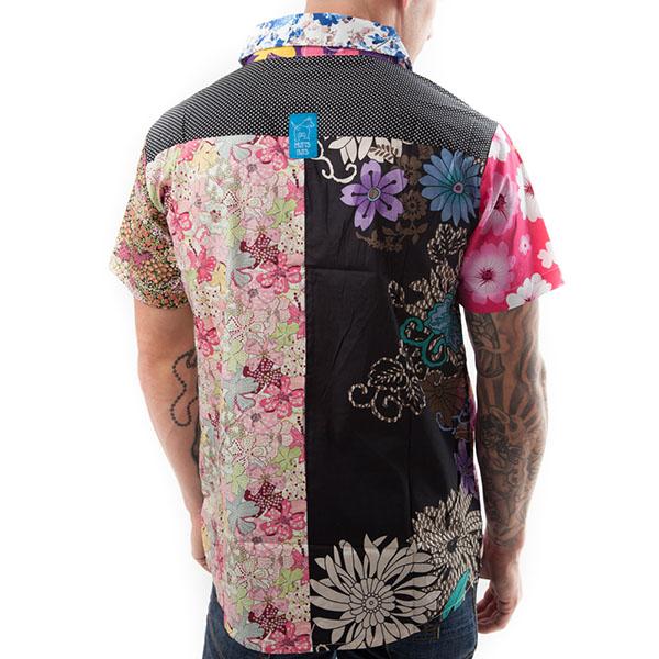 Short sleeved, Flower shirt, Part Shirt, Loud Shirt, Mutts Nuts, Shite Shirt, Loud Party Shirt, Pattern Shirt