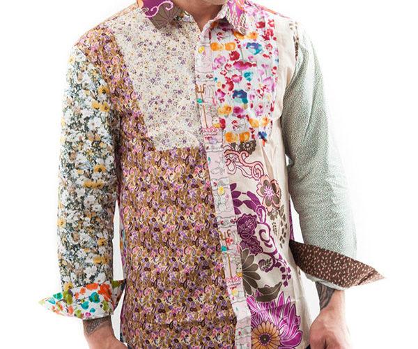 Flower shirt, Party Shirt, Loud Shirt, Mutts Nuts, Shite Shirt, Loud Party Shirt, Pattern Shirt